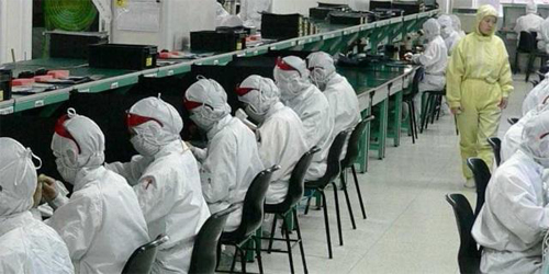 Рабочие сборочного цеха Apple