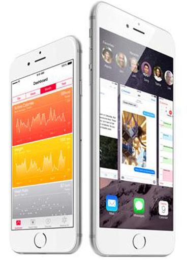 Белый iphone6 с серебристой задней крышкой