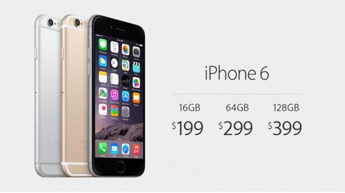 Цены iphone 6, память