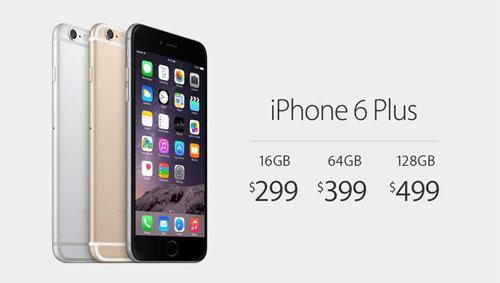 Цены iphone 6 plus, разный объем памяти