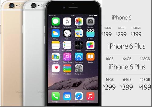 iphone 6 в России цены