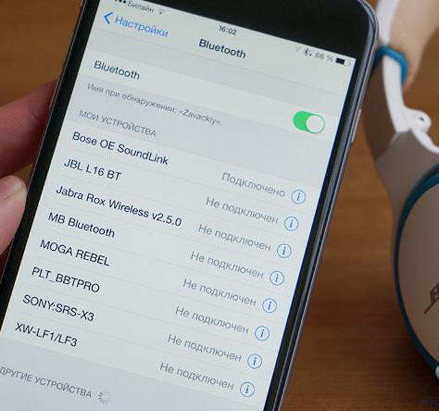 Bluetooth подключения