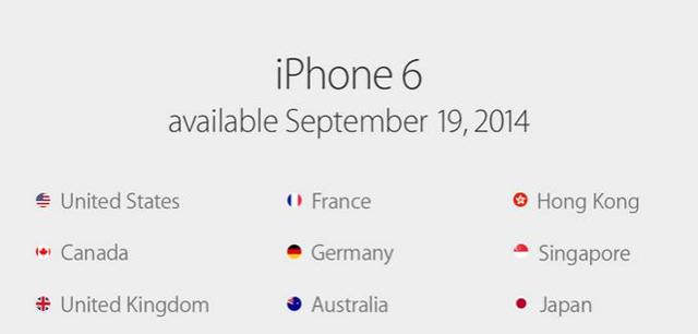 Страны по продажам айфон 6