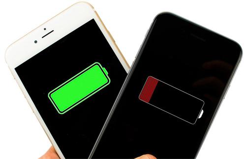 Экран iphone 6 с уровнем заряда батареи