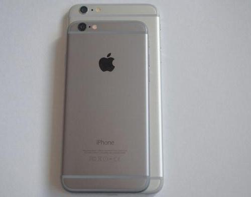 iphone 6 лежит на 6 plus