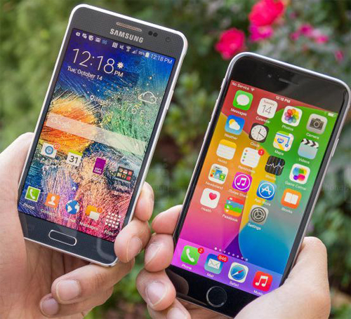 GALAXY Alpha  и iphone 6