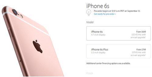 Стоимость iPhone 6s