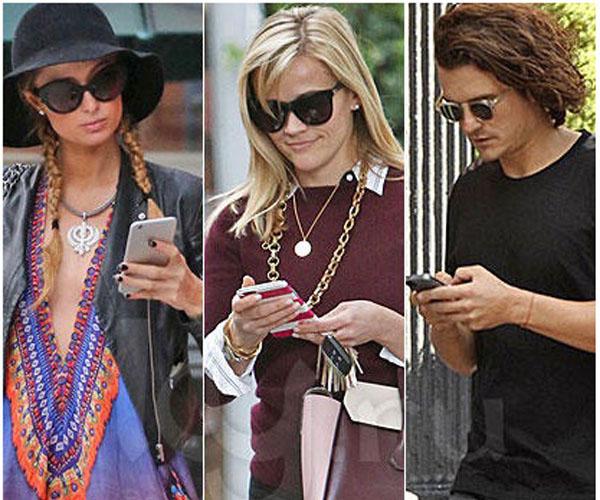 iPhone 6 пользуются Перис Хилтон, Орландо Блум и Риз Уизерспун