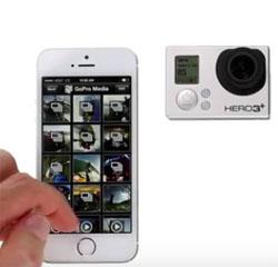 iPhone 6 и Hero3+ обмен файлами