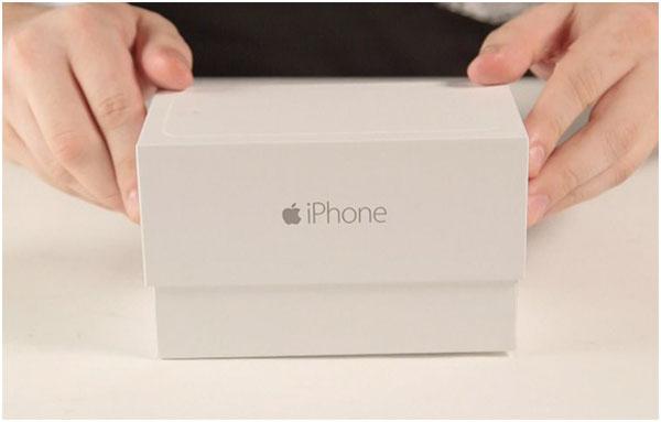 Оригинальная упаковкаiPhone 6 - вид сбоку