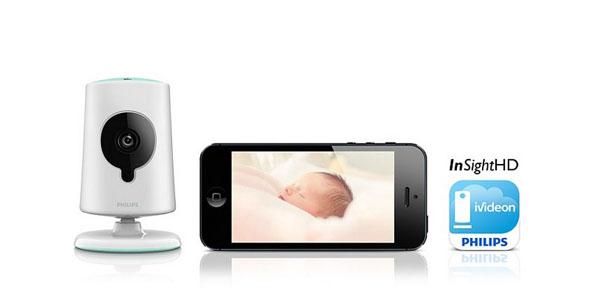 Логотип фирмы, iPhone и Philips In.Sight B120S/10