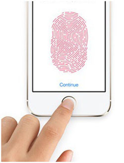 Отпечаток пальца для датчика Touch ID