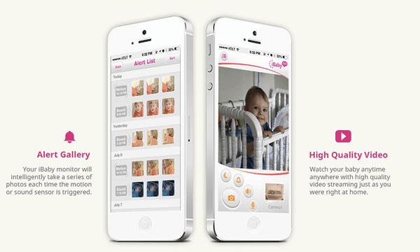 Два iPhone с детскими фотографиями на экране