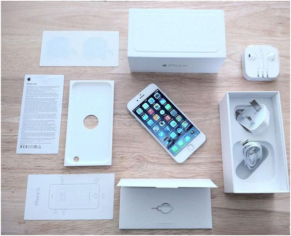 Инструкция, аксессуары, коробка и iPhone 6