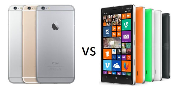 iPhone 6 и Nokia смартфоны
