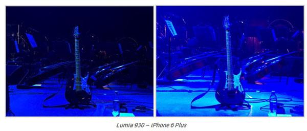 Снимки, сделанные на камеры iPhone 6 Plus и Nokia lumia 930 при низкой освещенности