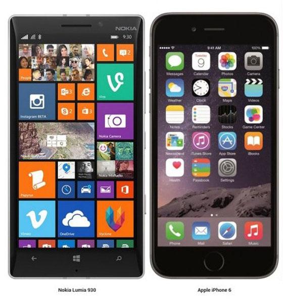 iPhone 6 и nokia lumia 930