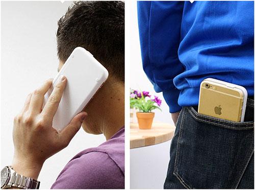 iPhone 6 в разговоре и в заднем кармане джинс с клавиатурой Brando