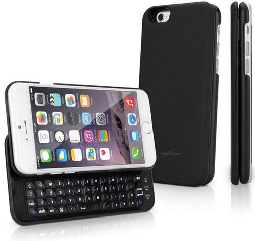 Вид спереди ,сзади и сбоку iPhone с клавиатурой Keyboard Buddy