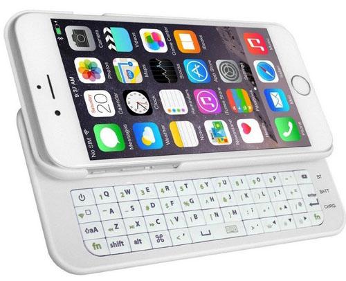Подключенная к iPhone 6 клавиатура MXtechnic