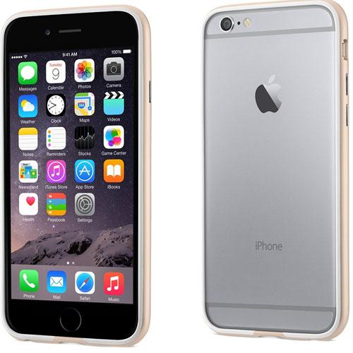 Вид сзади и спереди iPhone 6 и бампера Power Support Arc Bumper