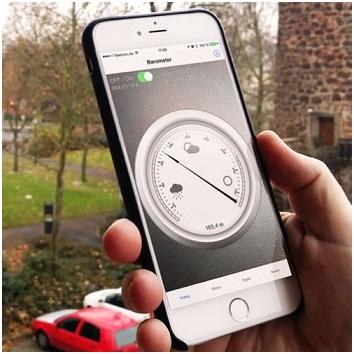 Пользование барометром на iPhone 6