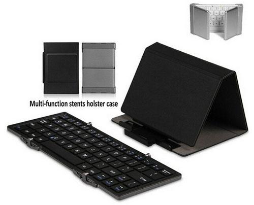 Чехол-кейс и клавиатура от TUPELO B.O.W в сложенном, раскрытом и полностью разложенном виде