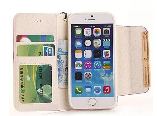 Gotida чехол-книжка с отделениями для карточек и денег и телефоном iPhone