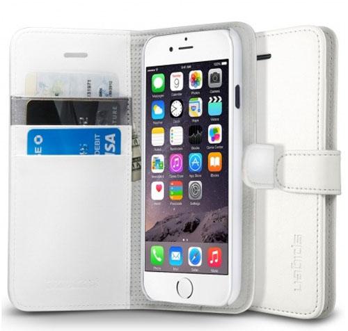 Wallet S c закрепленным iPhone и карточками в специальных кармашках