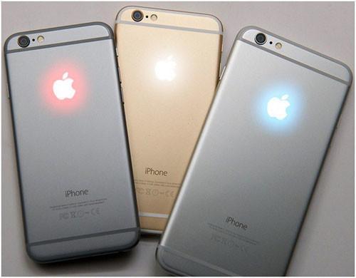 Разные iPhone 6 со светящимися яблоками