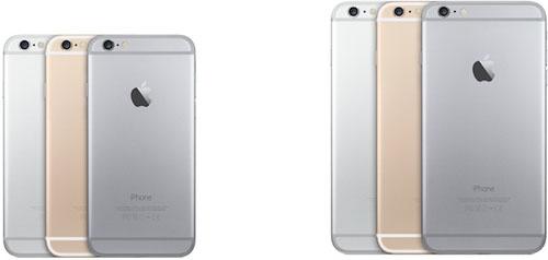 Три цветовых решения iPhone 6 и iPhone 6 plus
