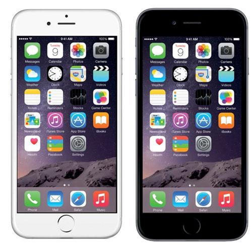 Черный и белый цвета рамки дисплея iPhone 6