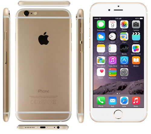 Смартфон iPhone 6 - вид спереди, сзади и сбоку