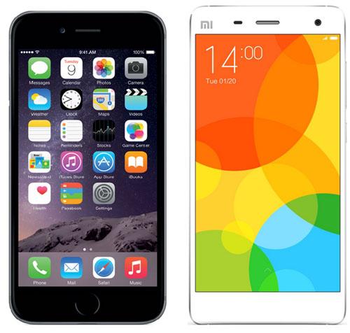 Xiaomi mi4 и iPhone 6