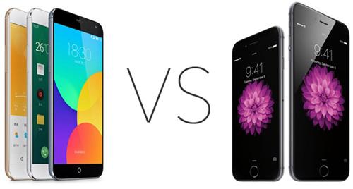Meizu mx4 и iPhone 6
