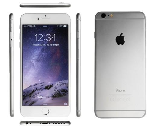 Вид спереди ,сзади и сбоку iPhone 6 Plus
