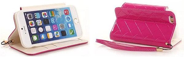 Чехол-книжка Gotida и iPhone в горизонтальном положении