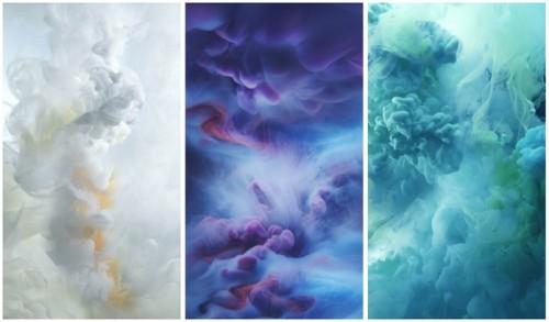 Обои для ios9 с цветными облаками