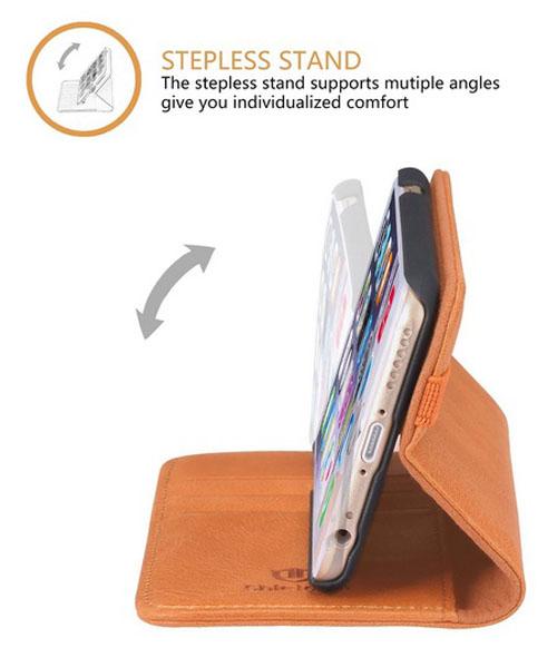 Горизонтальное крепление iPhone в чехле-книжке Shieldon