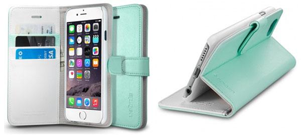 Вертикальное и горизонтальное закрепление iPhone в чехле-книжке Wallet S