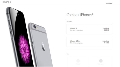 Цена iPhone 6 и iPhone 6 Plus в Бразилии