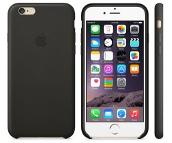 Кожаный чехол и iphone 6-вид сзади. спереди и сбоку