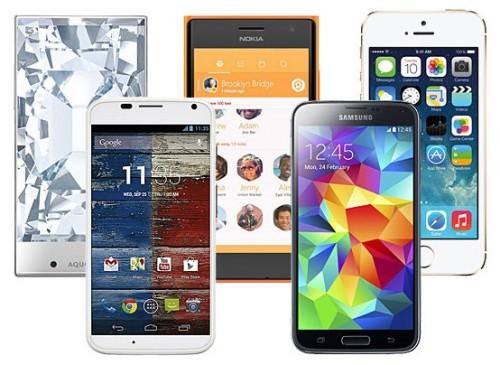 Пять штук смартфонов
