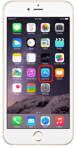 Рабочий стол iPhone и иконка appstore