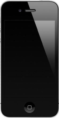Вид спереди черного iPhone 4