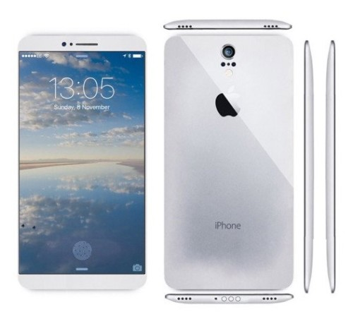 Вид спереди, сбоку и сзади iPhone 7