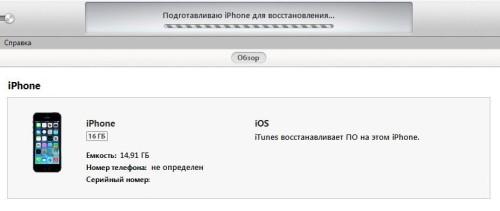 Подготовка iPhone к восстановлению