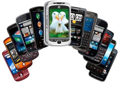 Разные модели смартфонов