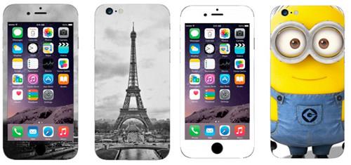 Наклейки на iphone 6 c изображением эйфелевой башни и миньона от 3М