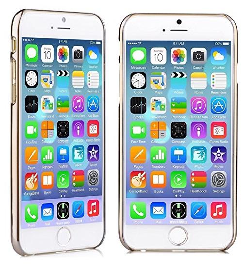 Вид спереди дисплея iPhone 6 в накладке CrystalFlora